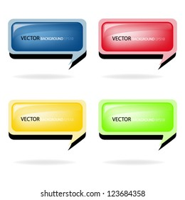 Blue vector Background bubble for your message and text web design eps10