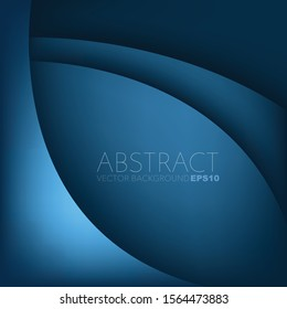 Blue Vector background curve lines overlap layer on space for text and background design
