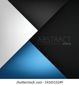 Blue Vector background geometric triangle element