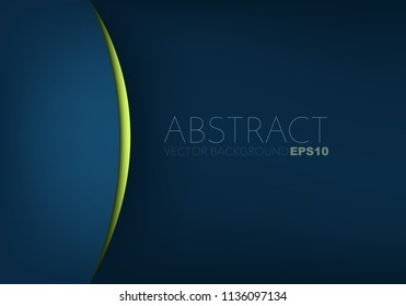 Blue vector background with green layer with space