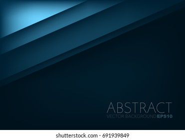 Blue vector background overlap paper layer on red dark space for design