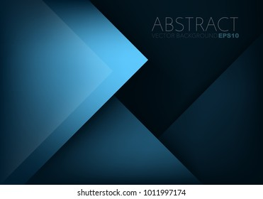 Blue vector background triangle geometric