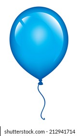 Blue vector balloon