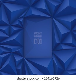 Blue vector geometric background. Can be used in cover design, book design, website background, CD cover, advertising.