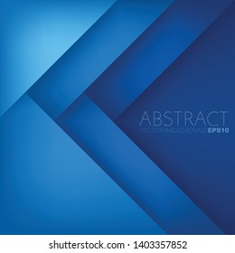 Blue vector geometric background with layer for design