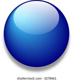 Blue vector glass web button
