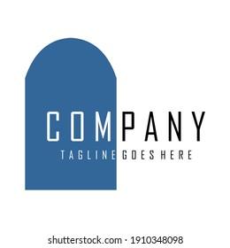 blue vector logo design image