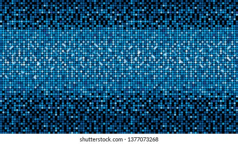 Blue vector neon metallic mosaic with spots light