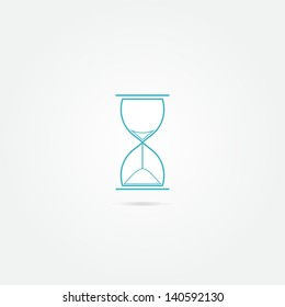 Blue vector sand clock