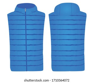 Blue vest with cap. vector illustration