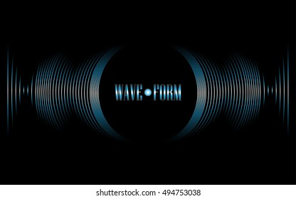 Blue vibration waveform sound of music