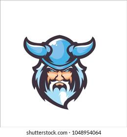 Blue Viking E Sport Logo