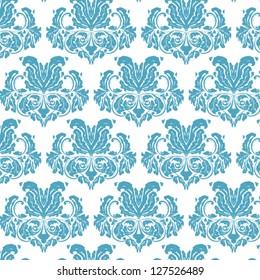blue vintage damask background