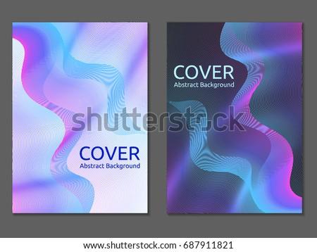 blue violet flyer corporate brochure report stock vector royalty