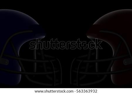 blue vs red american football helmet stock vector royalty free