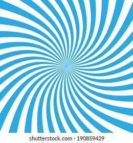 Blue warp sunburst ray vector.