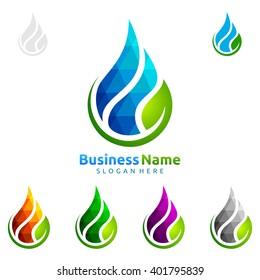 Water energy logo design ideas