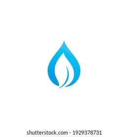 Blue Water drop logo vector icon