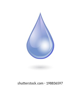 blue water drop. protection of nature. Vector