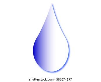 Blue water drop. Vector illustration.