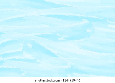 Blue watercolor abstract background. Sea waves. Vector illustration.