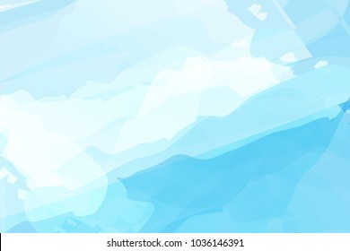 Blue watercolor abstract background vector design for Songkran festival in Thailand. Songkran is Thailand new year .
