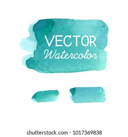 Blue watercolor Background. Vector Background