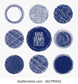 Blue watercolor circular.