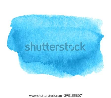 Blue Watercolor Colorful Shine Hand Drawn Stock Vector