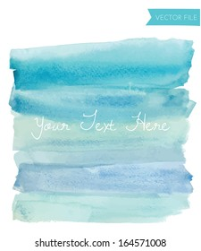 Blue Watercolor Ombre Background Vector