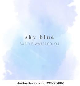 blue watercolor. vector eps 8