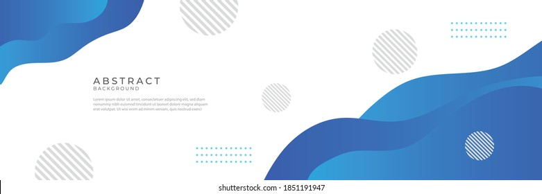 Blue wave abstract background. Liquid color background design. Fluid gradient shapes composition. Futuristic design for posters, banner, web header, presentation design and much more - Shutterstock ID 1851191947