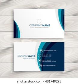 Business card design images stock photos vectors shutterstock blue wave business card design colourmoves