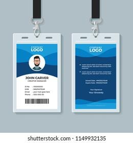 Blue Wave Identity Card Design Template