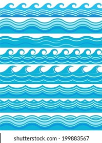 Blue wave patterns