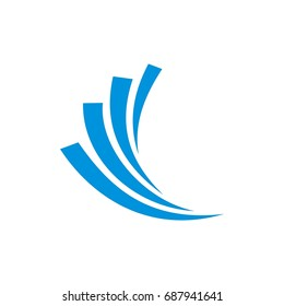 Blue Wave Swoosh Logo Template