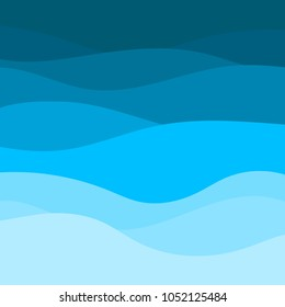 Blue wave vector abstract background