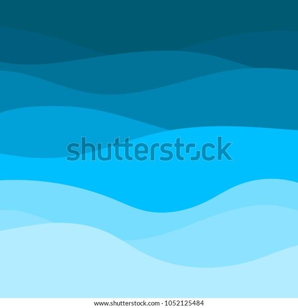 Blue Wave Vector Abstract Background Stock Vektorgrafik