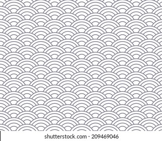 blue wave vector seamless patterns. Endless texture can be used for wallpaper, pattern fills, web page background,surface textures.