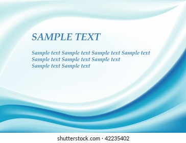 Blue waves background add text vector