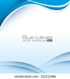 Blue waves design, vector illustration eps 10.