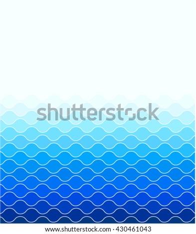 Blue Waves Sea Ocean Vector Illustration Stock Vector Royalty Free