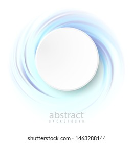 Blue waves in a spiral Abstract vector background