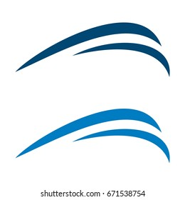 Blue Waves Swoosh Logo Template