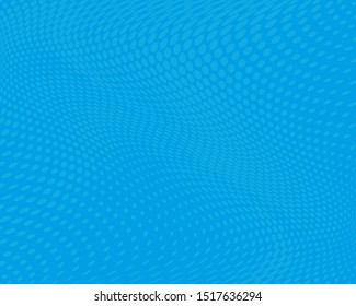 Blue Wavy dot lines background. Pattern of dots, dotted lines, circles of different scale. Futuristic pattern to create backgrounds, templates, posters in a modern minimalist style.