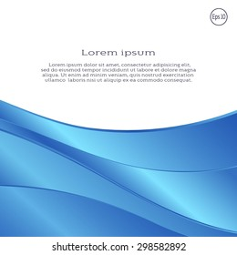 Blue wavy geometric shape layers with space for your text. Vector abstract background for flyer, blank, card, banner, invitation, brochure cover design template.