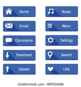 blue web buttons icon