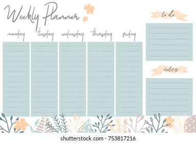 picture about Cute Weekly Planner Printable identify Weekly Planner Printables Photographs, Inventory Visuals Vectors