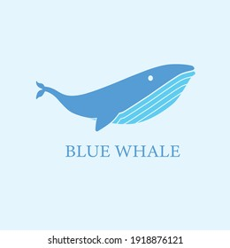 Blue Whale Logo Vektor Modern Simple