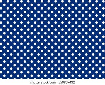 Blue White Dots Pattern